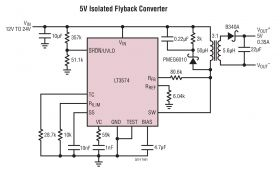 LT3574 - Isolated Flyback Converter Without an Opto-Coupler