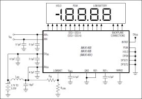 MAX1495 4 1/2 Digit, Single-Chip ADCs with LCD Drivers