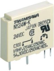 Wąski miniaturowy przekaźnik, Takamisawa, 24 V 1 AK, NY-24WK-IE