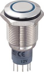Przełącznik z zabezpieczeniem przed zniszczeniem, podświetlny, 16 mm, 3A/250VAC