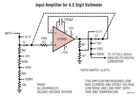 LT1008 - Picoamp Input Current, Microvolt Offset, Low Noise Op Amp