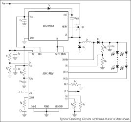 MAX15054 High-Side MOSFET Driver for HB LED Drivers and DC-DC Applications