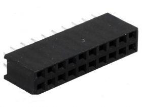 PS-D-20S Gniazdo PS do druku 2x10 pin (do listew PH 2.54), dwurzędowe, proste