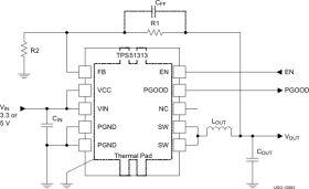 TPS51313 - 3V to 5.5V input, DCAP2, 1MHz, Step-Down DC/DC Converter for nVidia Graphics PEX (PCI-Express) Rail