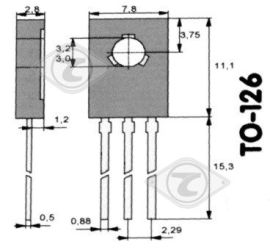 BD 235 Tranzystor NF-L 60V 2A 25W >3MHz