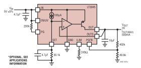 LT3045 - 20V, 500mA, Ultralow Noise, Ultrahigh PSRR Linear Regulator