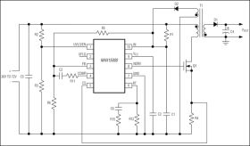 MAX15001 Current-Mode PWM Controller with Programmable Switching Frequency