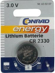 Bateria guzikowa, litowa Conrad Energy CR 2330, 3V, 260 mAh