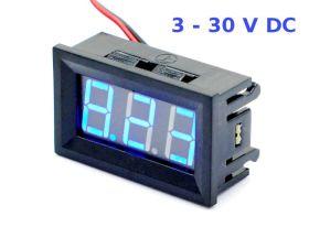 Woltomierz LED 3-30V