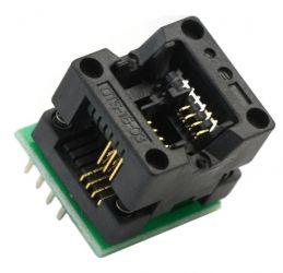 Adapter SO8-->DIL8 ZIF dla pamięci szeregowych i uP (SO8 150mil)