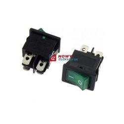 RL3421NG2GR/BKP8 włącznik ziel. OFF-ON bistab.podśw.230V 13x19.3mm