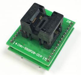 Adapter TSSOP8-->DIL28 ZIF dla pamięci szeregowych i uP