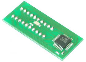 ATmega88 z adapterem DIL20 (ATmega88 -> AT90S2313)