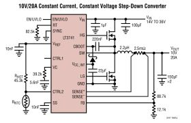 LT3741/LT3741-1 - High Power, Constant Current, Constant Voltage, Step-Down Controller