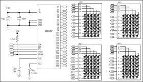 MAX6952 5 x 7 Matrix LED Display Driver