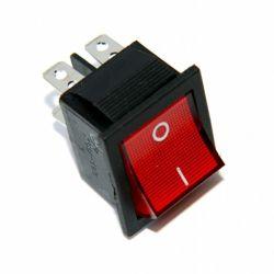 Włącznik kołyskowy czerwony duży