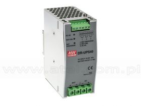 Mean Well DR-UPS40 Moduł zasilania buforowego 24VDC, 40A max, DIN TS35