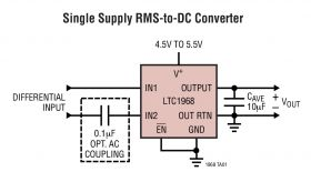 LTC1968 - Precision Wide Bandwidth, RMS-to-DC Converter