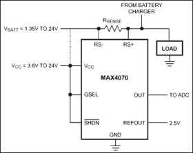 MAX4072 Bidirectional, High-Side Current-Sense Amplifier with REF-input