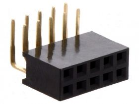PS-D-10K Gniazdo PS do druku 2x5 pin (do listew PH 2.54) , dwurzędowe, katowe