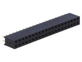 PS-D-40S Gniazdo PS do druku 2x20 pin (do listew PH 2.54) , dwurzędowe, proste
