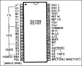 ICL7107 3 1/2 Digit A/D Converter