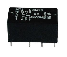 Przekaźnik sygnałowy Tyco 2A, 24V, 2 styki przełączne (styk podwójne), C93419