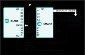 ICL7135 4 1/2 Digit ADC with Multiplexed BCD Outputs