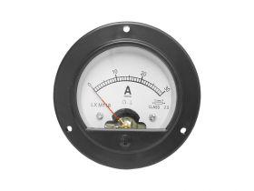 Miernik analogowy amperomierz okrągły 30A z bocznikiem.