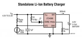 LTC4069 - Standalone 750mA Li-Ion Battery Charger in 2 x 2 DFN with NTC Thermistor Input