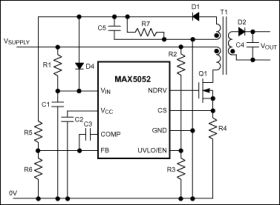 MAX5053 Current Mode PWM Controller With Error Amplifier For Isolated/Non-Isolated Power Supplies