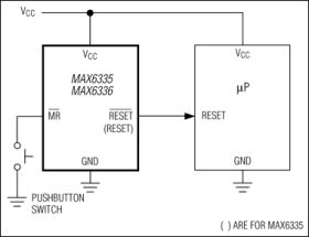 MAX6337 4-Pin, Ultra-Low-Voltage, Low-Power µP Reset Circuit with Manual Reset and Open-Drain /RESET