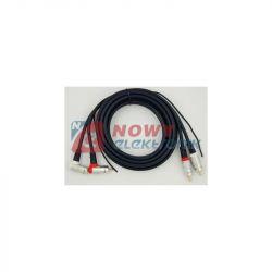 Kabel 2*RCA 5m kątowe digital blister + żyła sterująca