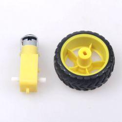 Silnik z przekładnią + koło