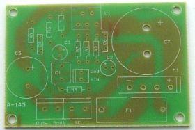 A-145_PCB. Płytka końcówki mono z układem LM1875 lub TDA2050