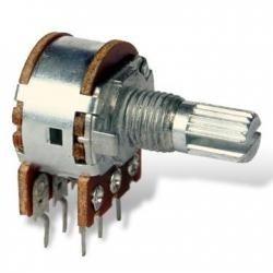 Potencjometr obrotowy liniowy 2x50k, L=15mm