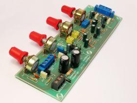KIT025 Przedwzmacniacz stereo z korekcja (Kompletny zestaw) NE025