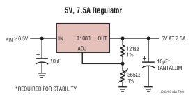 LT1085 - 7.5A, 5A, 3A Low Dropout Positive Adjustable Regulators