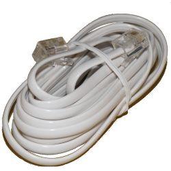 Przyłącze telefoniczne wtyk-wtyk 6p4c 3m białe