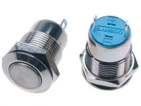PW12P; przełącznik przycisk OFF-(ON) monostabilny, płaski