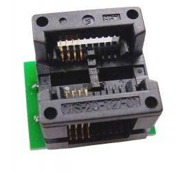 Adapter SO8W-->DIL8 ZIF dla pamięci szeregowych i uP (SO8 200-208mil)