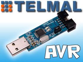 Programator ISP USBasp ATMEL AVR + Taśma Win7 x64