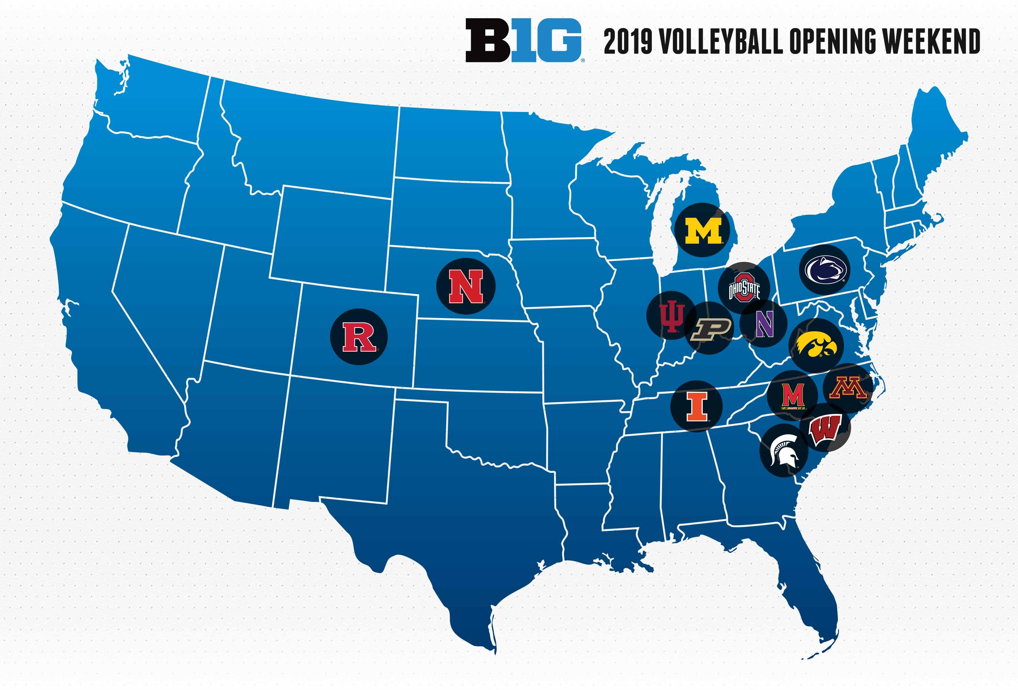 2019 Big Ten Volleyball Opening Weekend Matches