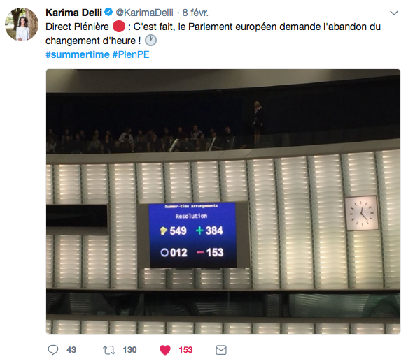 changement d'heure parlement européen