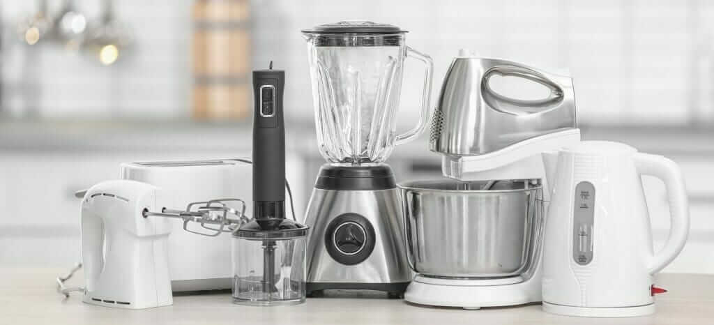 A photo of household kitchen appliances