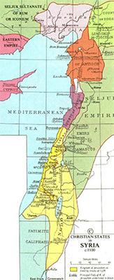 Map of Crusader States