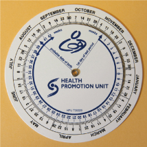 Figure 1.1 Gestation calendar wheel.