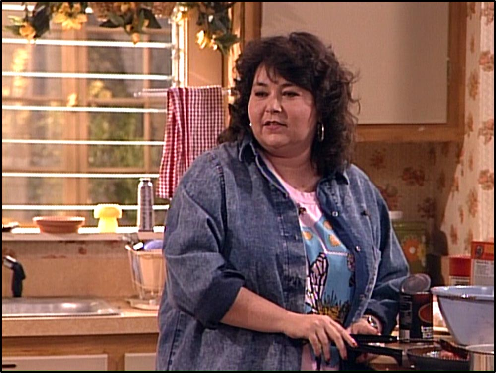 Figure 4.10 In U.S. culture, Roseanne's physique connotes a woman who excels at mothering but is sexually neutral.