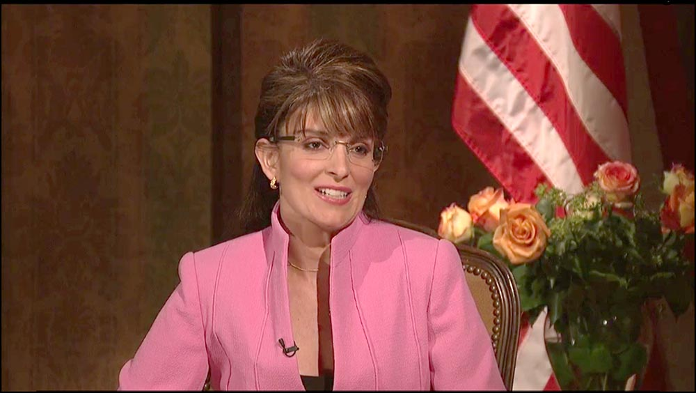 Figure 4.31 Fey's impersonation of Palin on SNL brought her national attention during the 2008 election.