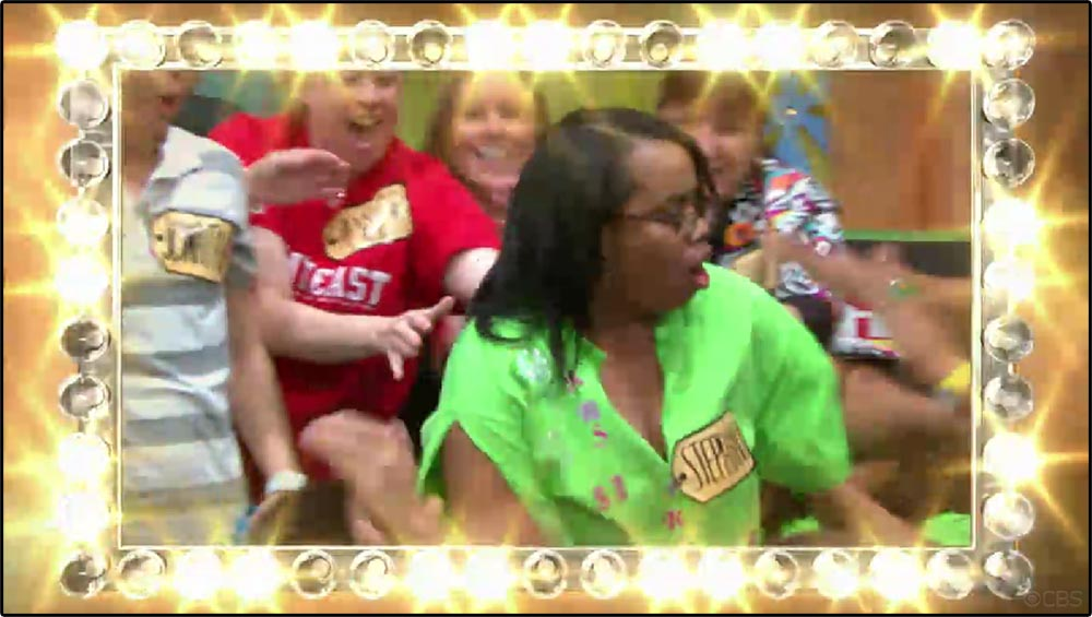 Figure 5.4 An audience member enters the world of television in The Price Is Right.